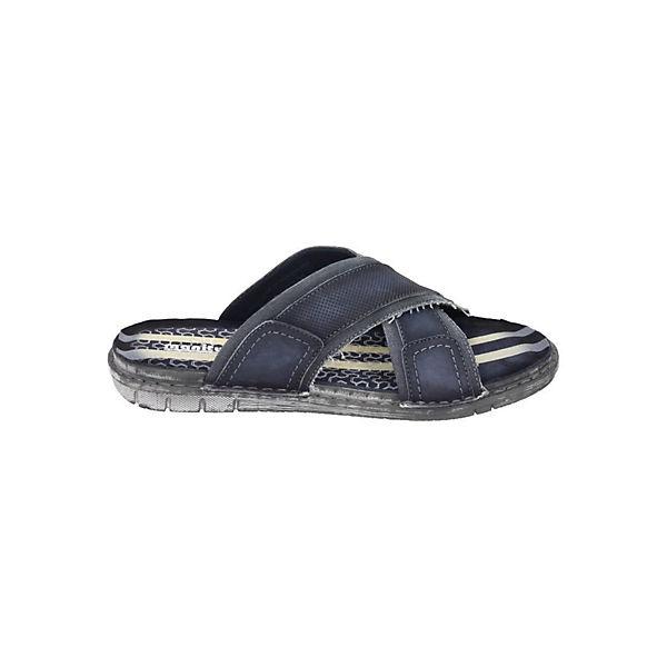 Manitu, Manitu, Manitu, Pantoletten, blau  Gute Qualität beliebte Schuhe 0aeeee