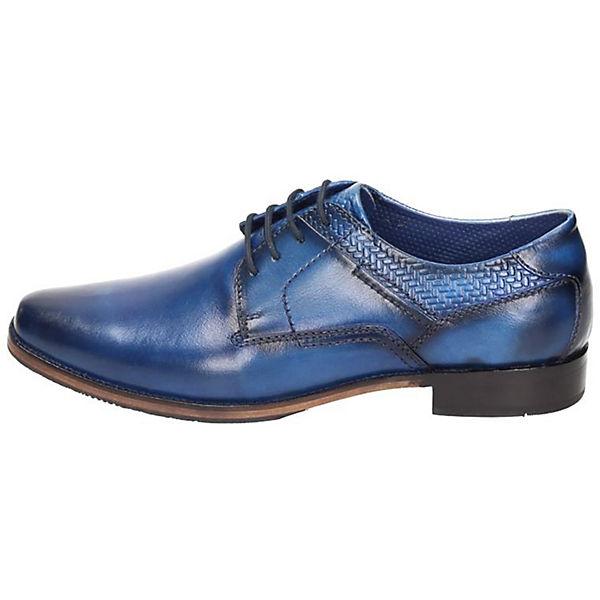 Manitu, Business-Schnürschuhe, blau