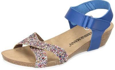 Fußbett Blau sportlich Ballerina Schuhe Damen Doc Comfort Leder