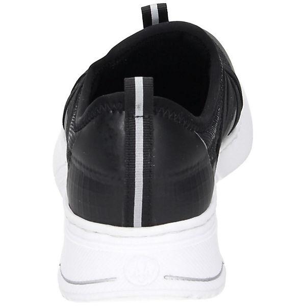 rieker Sportliche Slipper schwarz