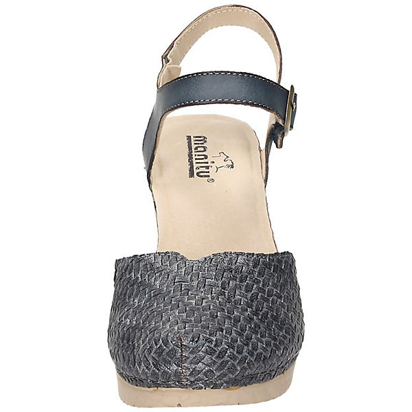 Manitu, Klassische Klassische Manitu, Sandaletten, grau   a4598b