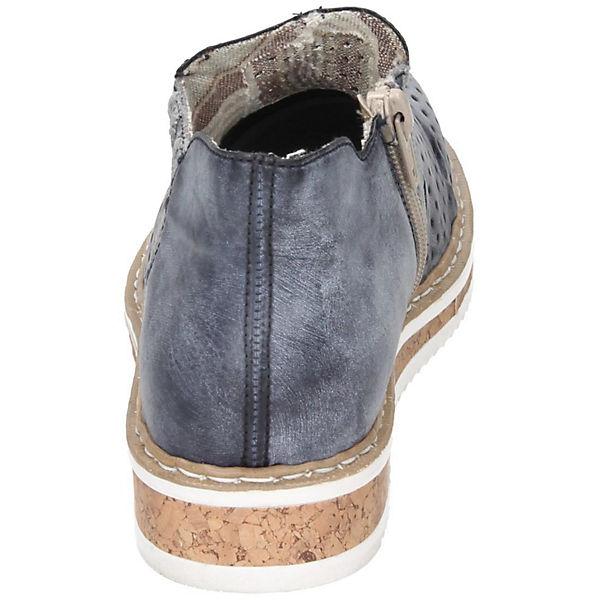 rieker, Komfort-Slipper, Komfort-Slipper, Komfort-Slipper, blau   b981d0