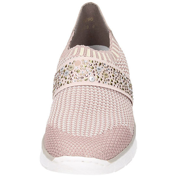 rieker, Gute Sportliche Slipper, rosa  Gute rieker, Qualität beliebte Schuhe 613d46