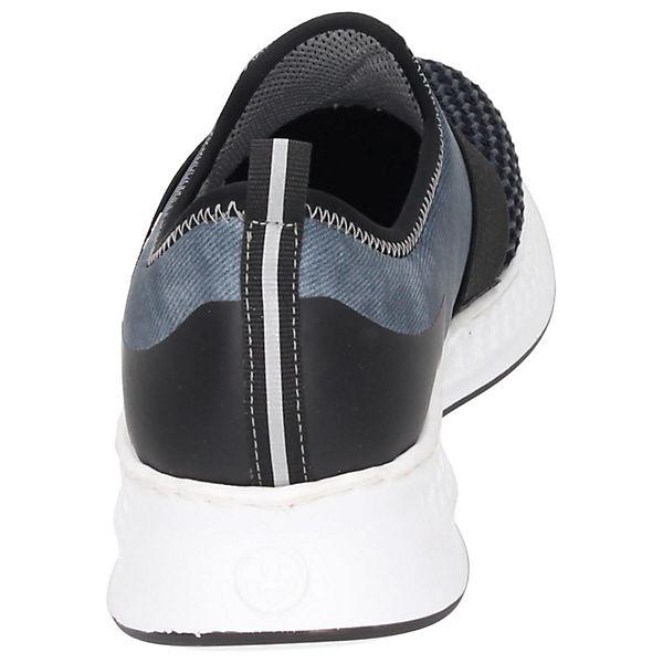 rieker, Sportliche Slipper, blau Schuhe  Gute Qualität beliebte Schuhe blau 778eb0
