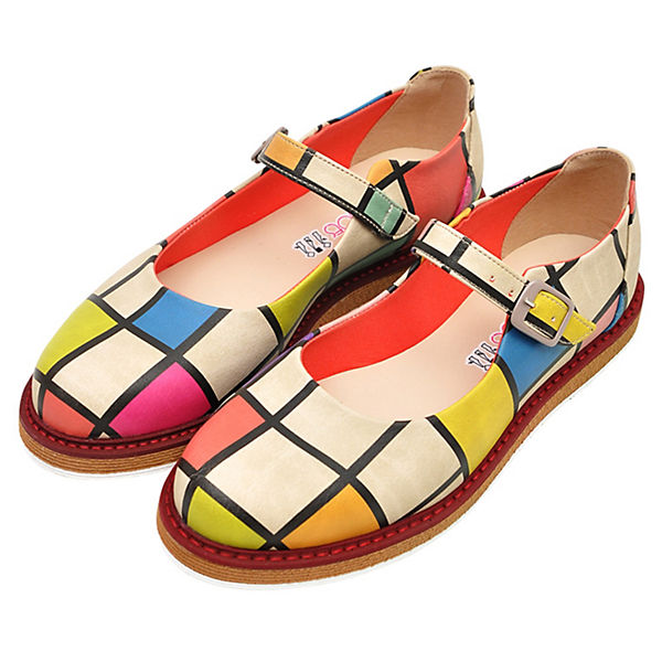 Dogo Shoes, Schnallenballerinas Lucy  To DOGO, mehrfarbig   Lucy 4a9a99