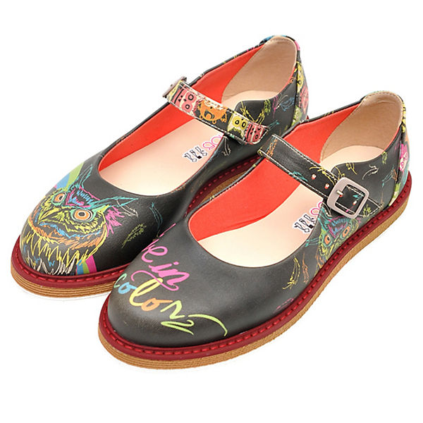 Dogo Shoes Schnallenballerinas Lucy Live in Color mehrfarbig