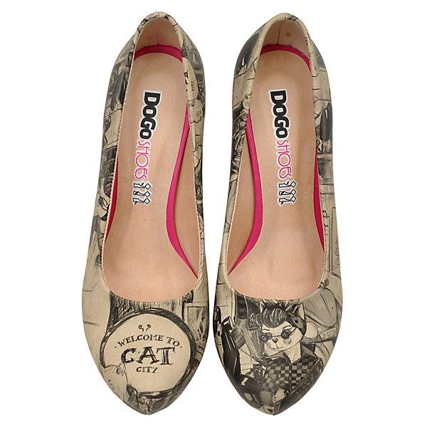 Dogo Shoes Klassische Pumps High-Heels Cat City Life mehrfarbig