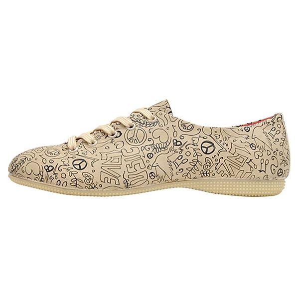 Dogo Shoes Sportliche Halbschuhe Oxford Peace & Smile mehrfarbig