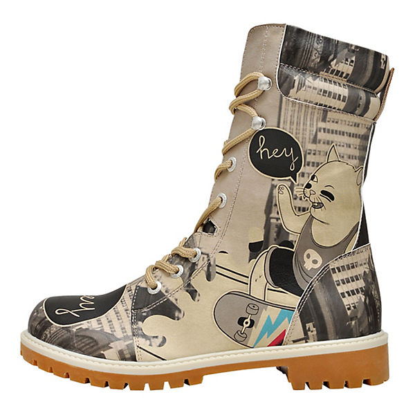 Dogo Shoes Schnürstiefel Super Boots Skater Cat mehrfarbig