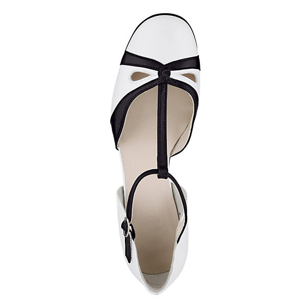 KLiNGEL, T-Steg-Pumps, weiß-kombi  beliebte Gute Qualität beliebte  Schuhe 998bb4