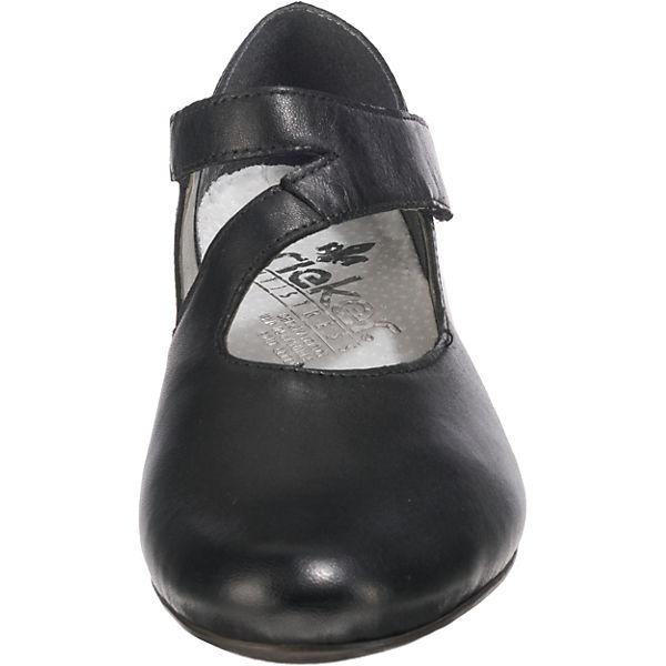rieker Lugano/Snake Komfort-Ballerinas schwarz