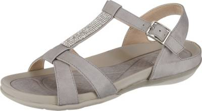 rieker, Timisoara Klassische Sandaletten, grau