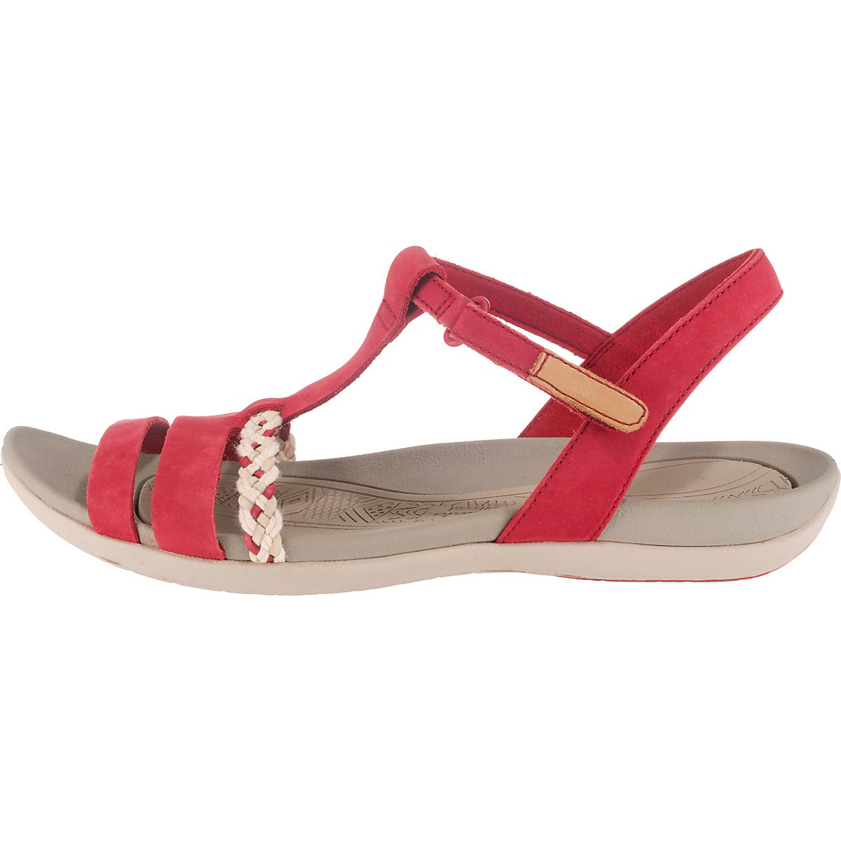 Clarks, Tealite Grace Komfort-Sandalen, rot