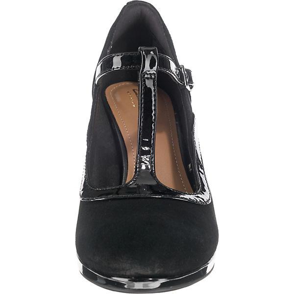 Clarks, ChorusPitch T-Steg-Pumps, schwarz beliebte  Gute Qualität beliebte schwarz Schuhe afc40f