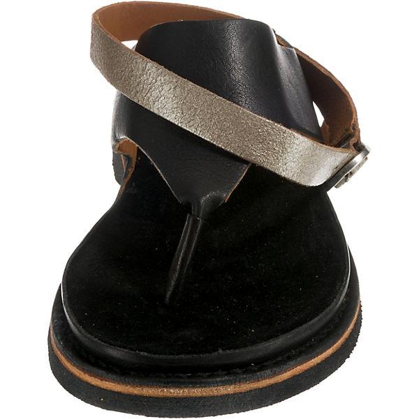 Shabbies  Amsterdam, SANDAL NATURAL DYED LEATHER Klassische Sandalen, schwarz-kombi  Shabbies Gute Qualität beliebte Schuhe e0de06