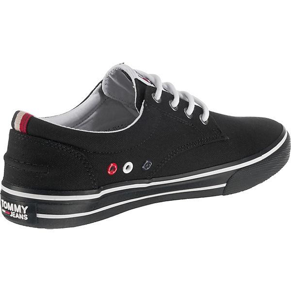 TOMMY SNEAKER JEANS, TOMMY JEANS TEXTILE SNEAKER TOMMY Sneakers Low, schwarz   1cc3c3