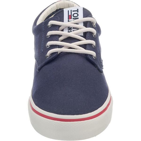 TOMMY JEANS, TOMMY JEANS dunkelblau TEXTILE SNEAKER Sneakers Low, dunkelblau JEANS   9032be