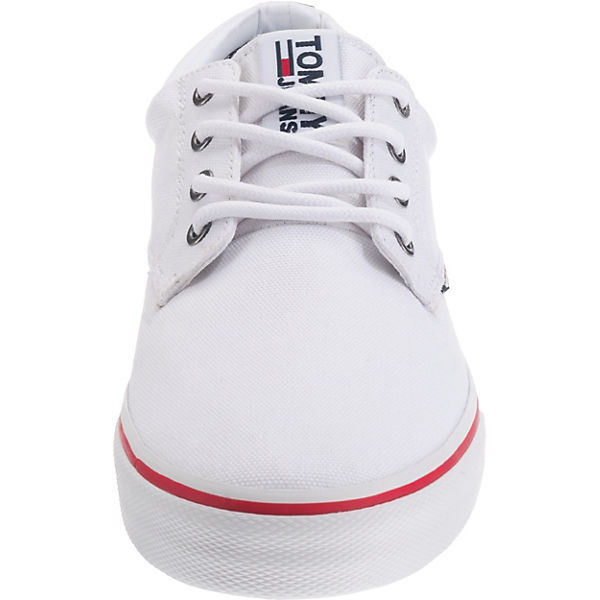 TOMMY JEANS, TOMMY JEANS  TEXTILE SNEAKER Sneakers Low, weiß  JEANS  a1d8d8