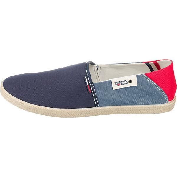 SUMMER ON TOMMY kombi TOMMY SLIP SHOE Sportliche blau JEANS Slipper JEANS txXXag