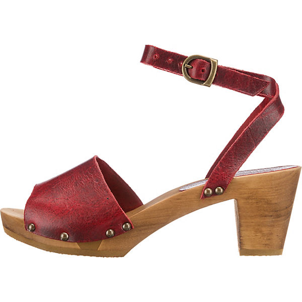 Sanita Sandaletten Klassische Sanita rot Klassische Uqw0ptH5