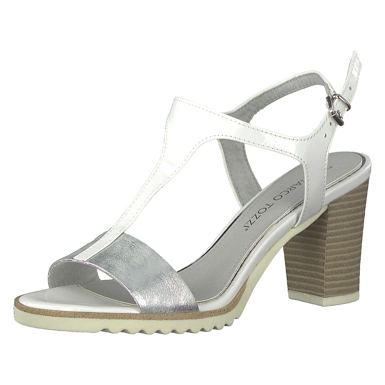 MARCO TOZZI Klassische Sandaletten silber Damen Gr. 38