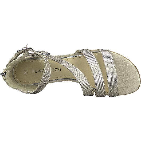 Klassische Sandalen MARCO MARCO TOZZI gold TOZZI HgYt5q