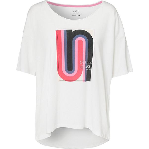 ESPRIT edc weiß Shirt T by wqAfzZ