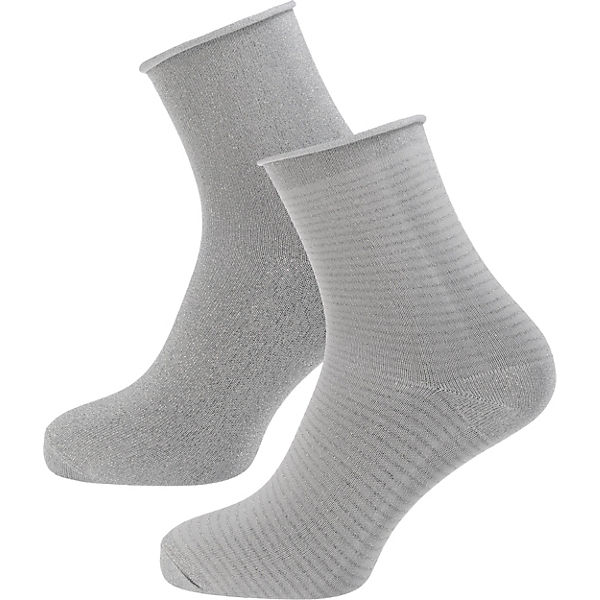 camano 2 Paar Socken grau
