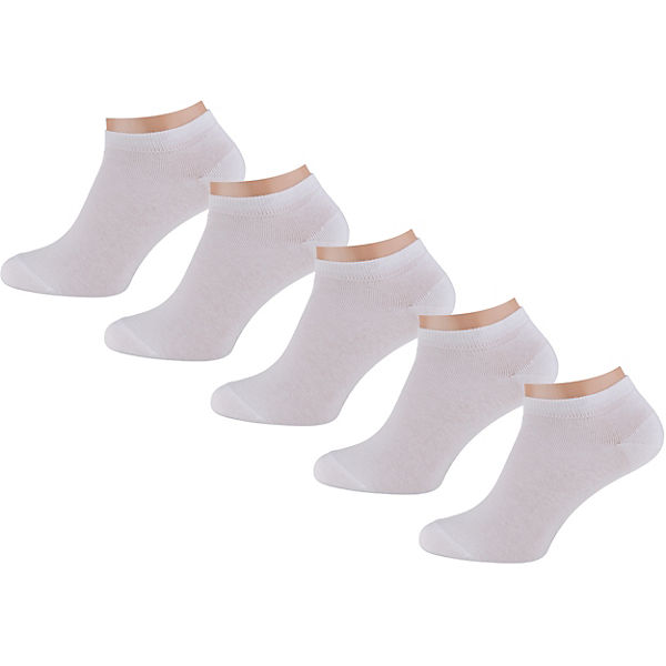 5er Pack Solid-solid Sneakers 5-pack Sneakersocken
