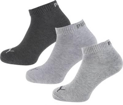 PUMA, PUMA 3 Paar Kurzsocken Socken, grau-kombi
