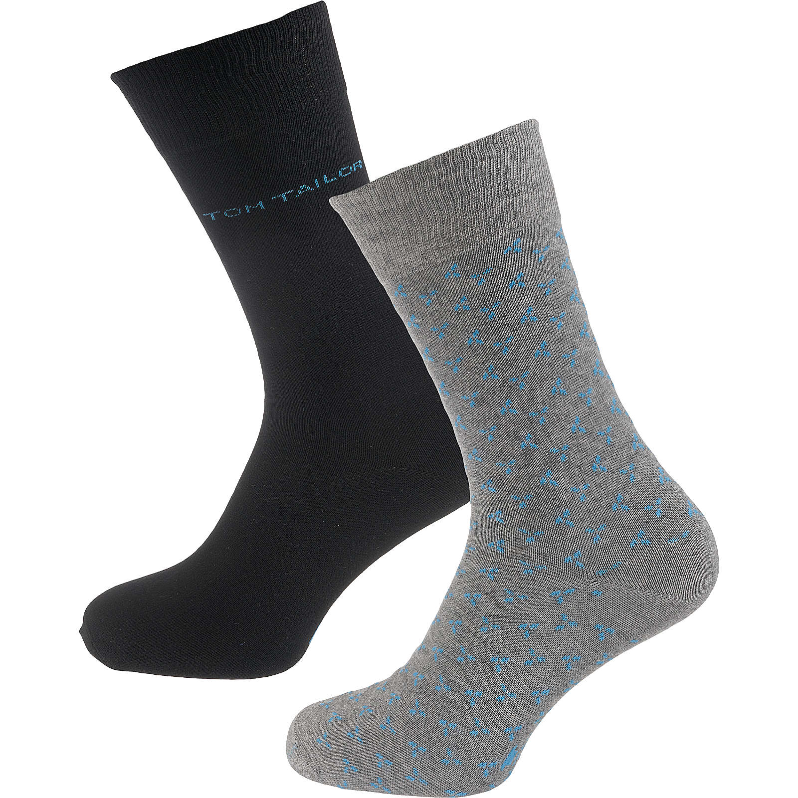 TOM TAILOR 2 Paar Socken grau Herren Gr. 43-46