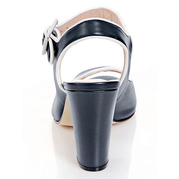 Alba dunkelblau Moda Klassische Klassische Sandaletten Sandaletten Alba Moda Zxw550RSfq