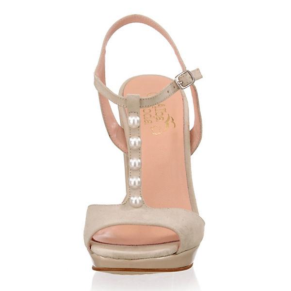 Alba Moda T-Steg-Sandaletten beige