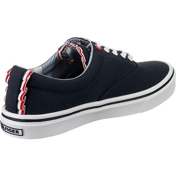 HILFIGER Sneakers WEIGHT TEXTILE TOMMY Low blau SNEAKER LIGHT P7dwxX