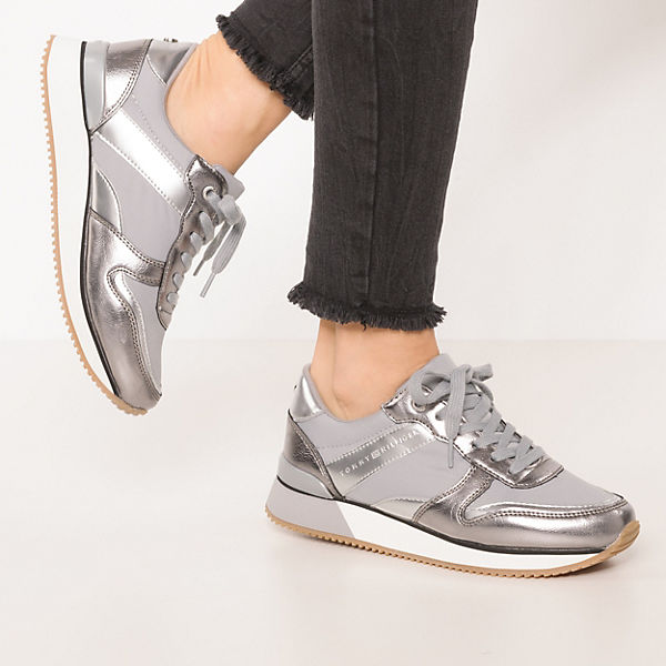 TOMMY HILFIGER, METALLIC SNEAKER Sneakers Low, grau  Gute Qualität beliebte Schuhe