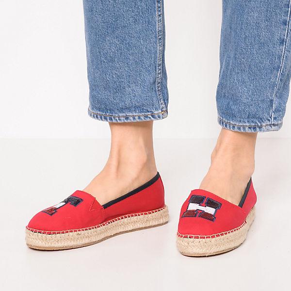TOMMY HILFIGER TH SEQUINS ESPADRILLE Espadrilles rot  Gute Qualität beliebte Schuhe