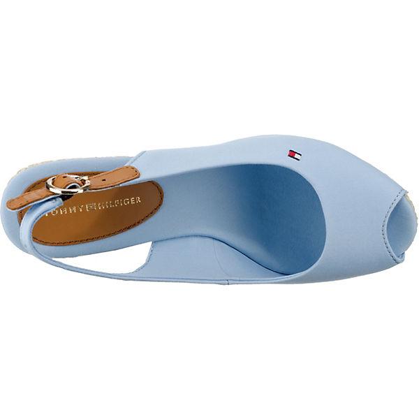 TOMMY HILFIGER, ICONIC ELBA BASIC SLING BACK Keilsandaletten, beliebte blau  Gute Qualität beliebte Keilsandaletten, Schuhe eba225