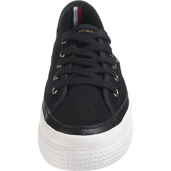 FLATFORM schwarz Low TOMMY SUEDE HILFIGER SNEAKER Sneakers qxEpTUwC