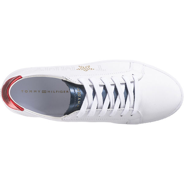 TOMMY STAR weiß Low METALLIC HILFIGER TOMMY SNEAKER Sneakers ZRaZqz8w7