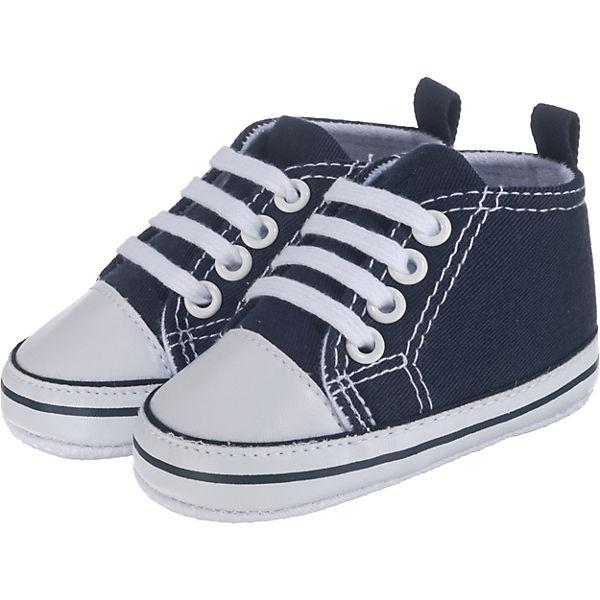 size 40 32a93 6ecfc Playshoes, Baby Krabbelschuhe, dunkelblau