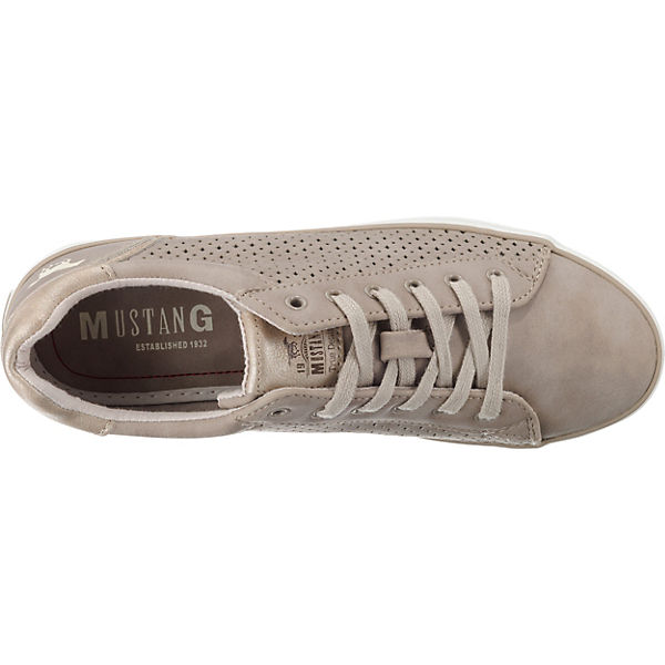 MUSTANG, Sneakers Low, taupe Schuhe  Gute Qualität beliebte Schuhe taupe 609818