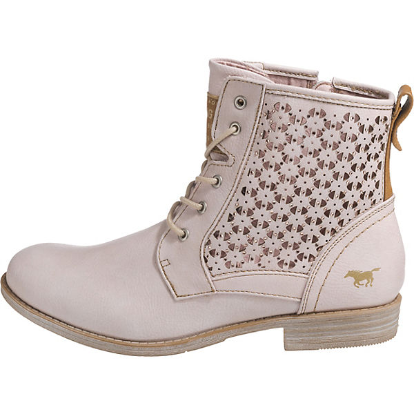 MUSTANG, Schnürstiefeletten, beliebte rosa  Gute Qualität beliebte Schnürstiefeletten, Schuhe 0b5707