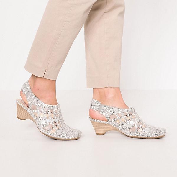 Kiarflex, Sling-Pumps, gold-kombi  Gute Schuhe Qualität beliebte Schuhe Gute 34bf12