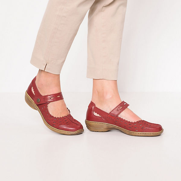 Kiarflex, Riemchenballerinas, rot-kombi  Gute Qualität beliebte Schuhe