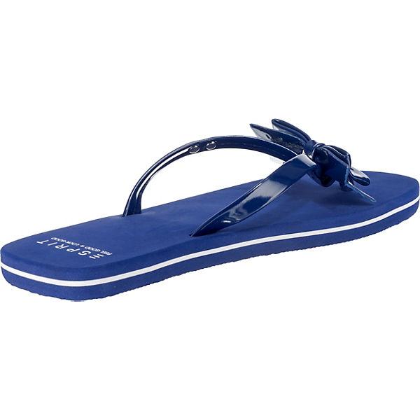Pantoletten Pantoletten Bow Bow Doro ESPRIT ESPRIT Doro blau fwzx4Pqa