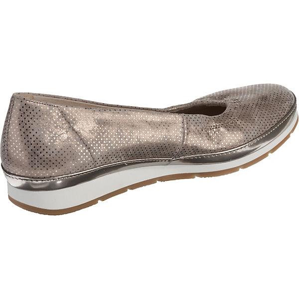 Gabor, Sportliche Gute Ballerinas, gold-kombi  Gute Sportliche Qualität beliebte Schuhe 78a1e3