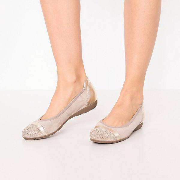 Gabor, Klassische Ballerinas, Ballerinas, Klassische gold-kombi   cdf533