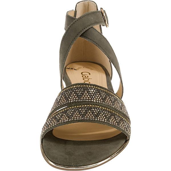 Gabor, Klassische Sandalen, grün Schuhe  Gute Qualität beliebte Schuhe grün f9bb89