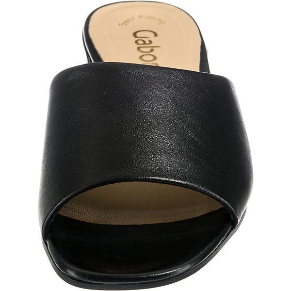 Gabor Gabor Pantoletten Pantoletten schwarz schwarz r71qEwr