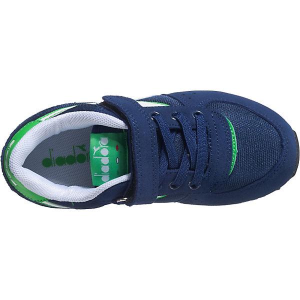 Diadora Kinder Sneakers Low MALONE NYL PS blau